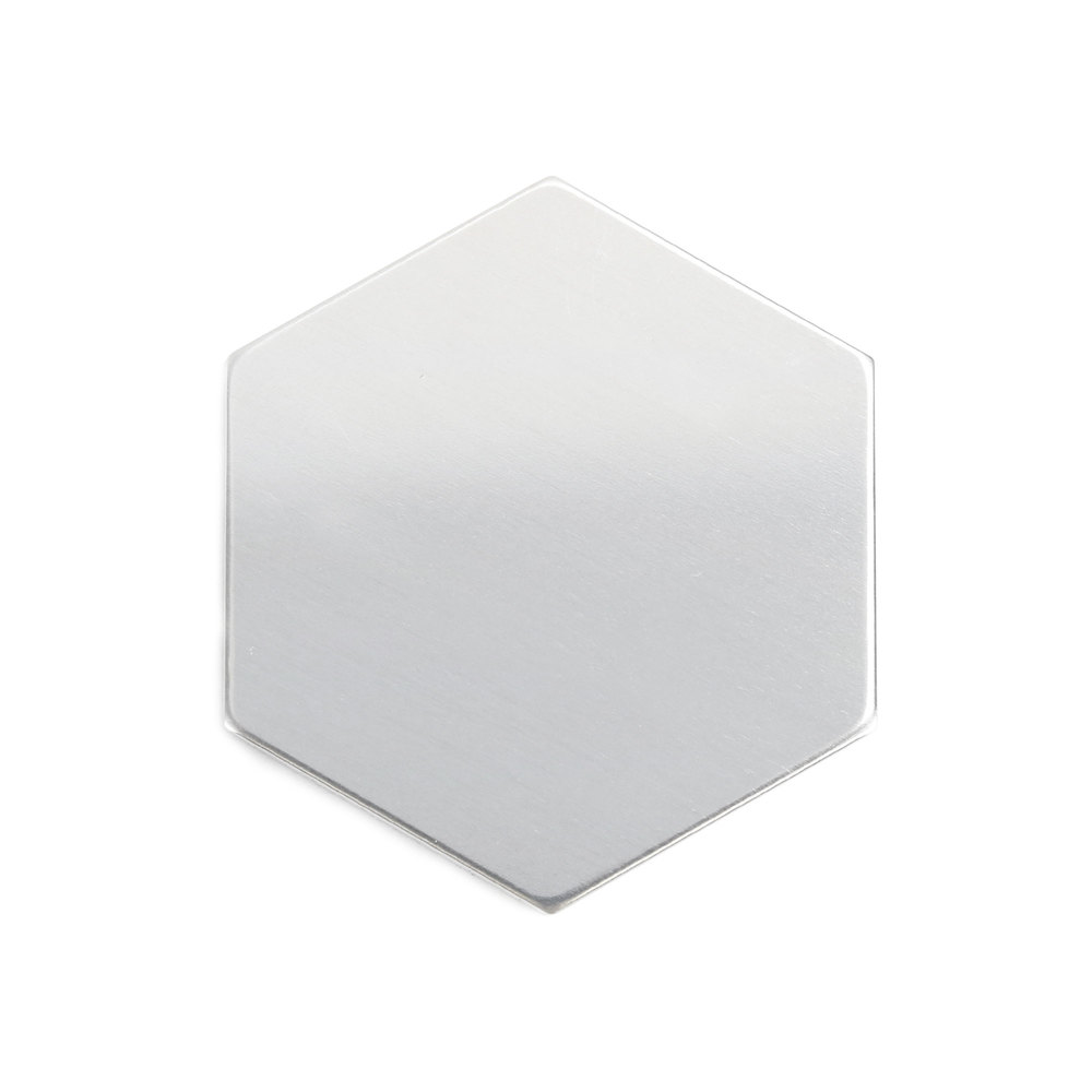 "Metal Stamping Blanks Aluminum Hexagon 29.5mm (1.16""), 18 Gauge, Pack of 5"