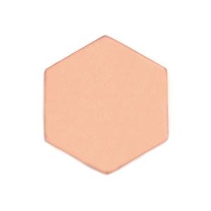 "Metal Stamping Blanks Copper Hexagon 29.5mm (1.16""), 24 Gauge, Pack of 5"