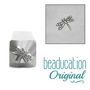 Metal Stamping Tools Dragonfly Metal Design Stamp, 7mm, Beaducation Exact Series by Stamp Yours