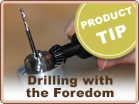 PRODUCT TIP: Drilling with the Foredom Flex Shaft