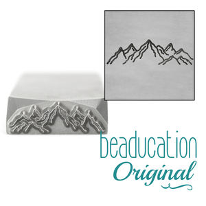 Metal Stamping Tools Tahoe Mountain Range Metal Design Stamp, 17mm - Beaducation Original