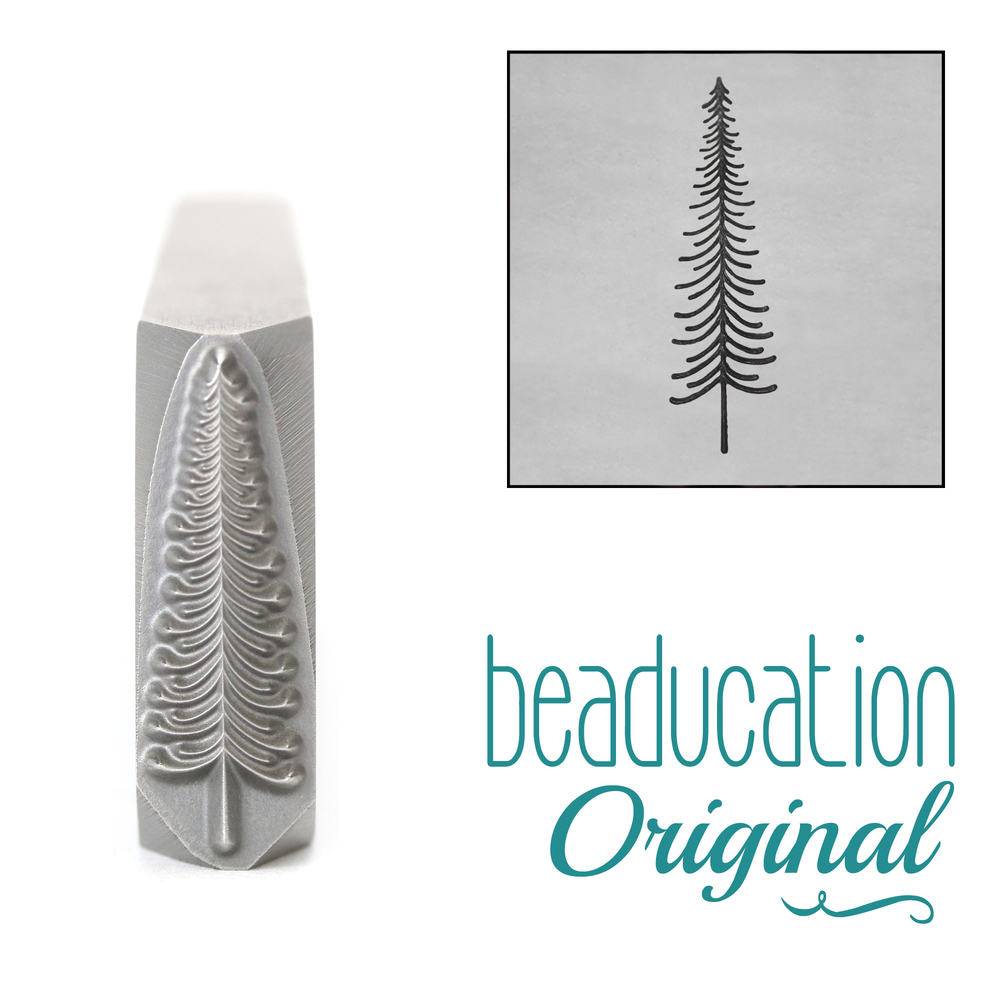 Metal Stamping Tools Tall Thin Tree Metal Design Stamp, 17mm - Beaducation Original