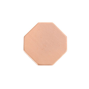 "Metal Stamping Blanks Copper Octagon (ish) 22.8mm (.8""), 20 Gauge, Pack of 5"