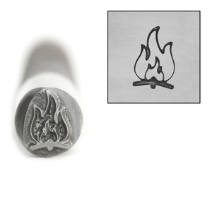 Metal Stamping Tools Advantage Series Campfire Metal Design Stamp, 8mm