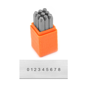 Metal Stamping Tools ImpressArt Basic Block Number Stamp Set, 1.5mm