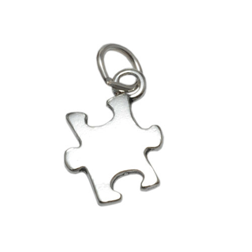 Charms & Solderable Accents Sterling Silver Puzzle Piece Charm