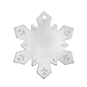"Metal Stamping Blanks Aluminum Snowflake Ornament Blank, 55.5mm (2.19"") x 47.5mm (1.87"")"