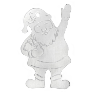 "Metal Stamping Blanks Aluminum Santa Ornament Blank, 71mm (2.8"") x 44.5mm (1.75"")"