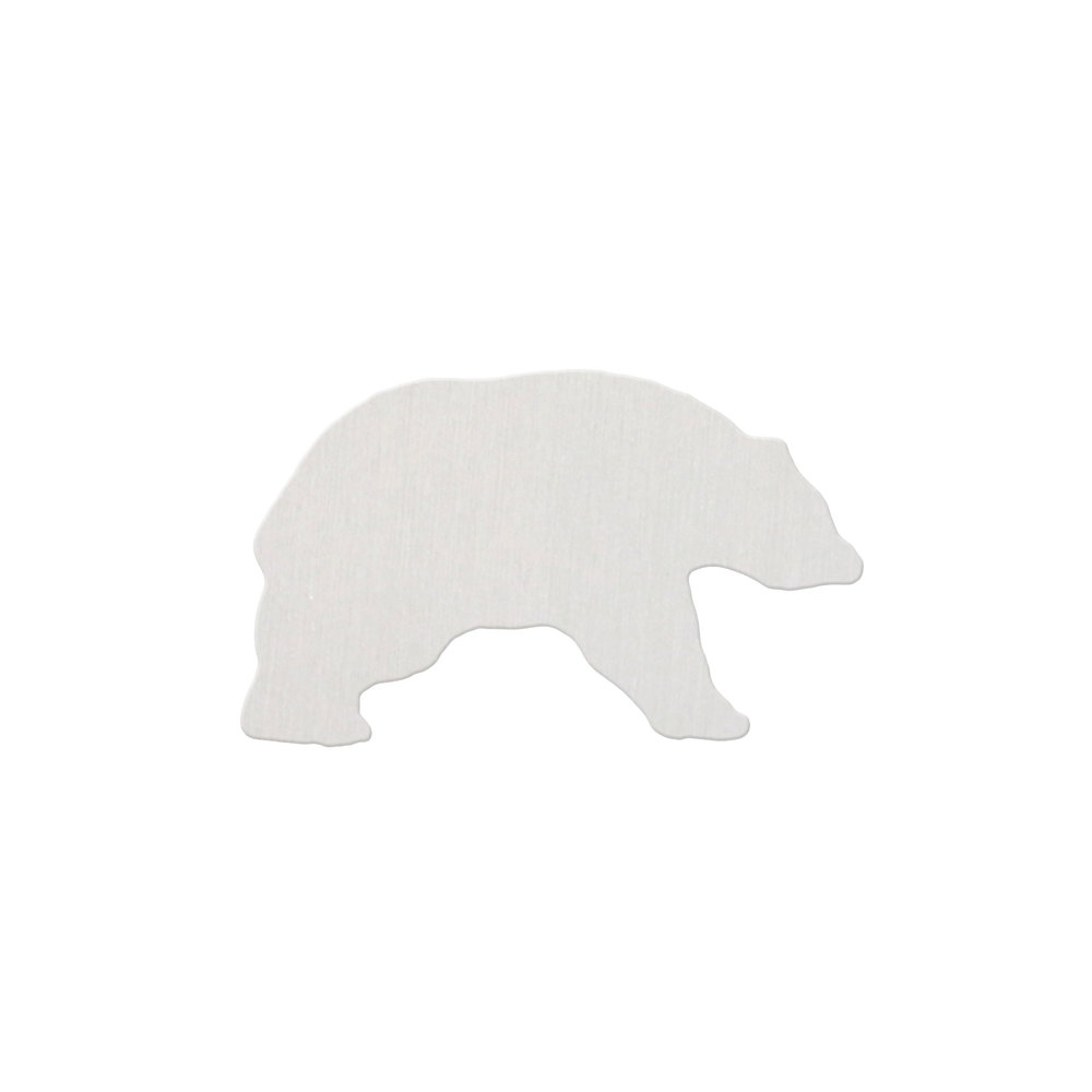 "Metal Stamping Blanks Aluminum Bear, 25mm (1"") x 16.5mm (.65""), 18 Gauge - Pack of 2"