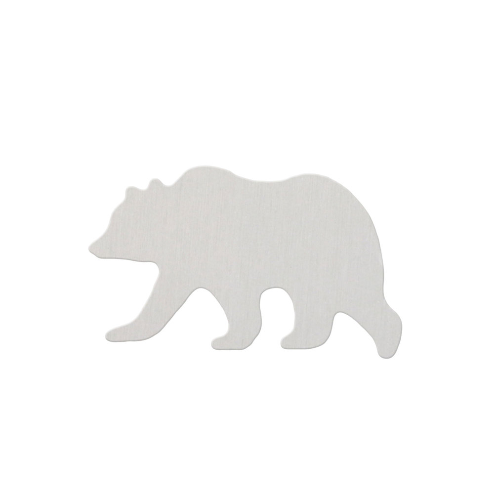"Metal Stamping Blanks Aluminum California Bear, 31.5mm (1.25"") x 20mm (.80""), 18 Gauge - Pack of 2"