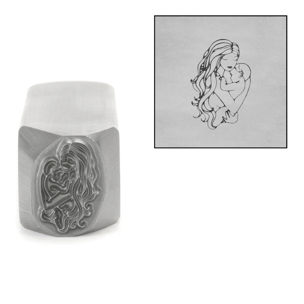 Metal Stamping Tools Mother and Child Metal Design Stamp, 14.5mm by Little Freckle
