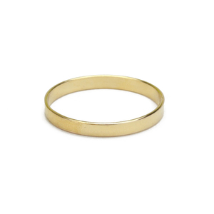 Metal Stamping Blanks Gold Filled Ring Stamping Blank, 2mm Wide, SIZE 4