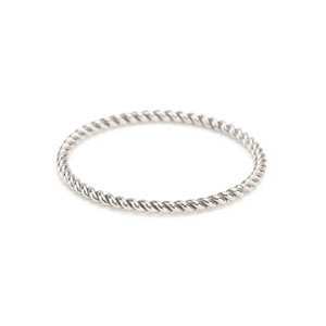 Metal Stamping Blanks Sterling Silver Twisted Stacking Ring, SIZE 7