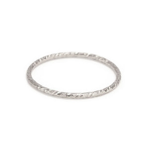 Metal Stamping Blanks Sterling Silver Sparkle Texture Stacking Ring, SIZE 8