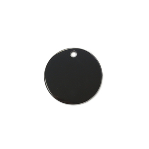 "Metal Stamping Blanks Stainless Steel, Black Round, Disc, Circle with Hole, 12mm (.47""), Pack of 5"