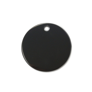 "Metal Stamping Blanks Stainless Steel, Black Round, Disc, Circle with Hole, 19mm (.75""), Pack of 5"