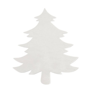 "Metal Stamping Blanks Aluminum Tree Ornament Blank,  83mm (3.27"") x  71mm (2.8""), 14 Gauge"
