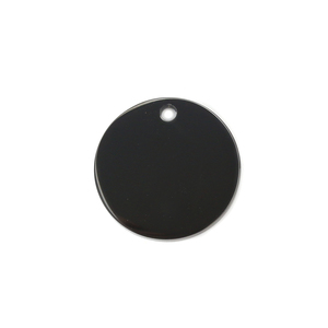 "Metal Stamping Blanks Stainless Steel, Black Round, Disc, Circle with Hole, 15mm (.59""), Pack of 5"