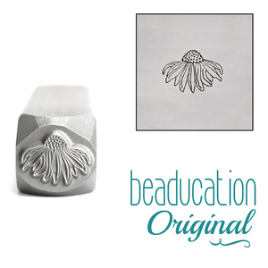 Metal Stamping Tools Echinacea Flower Metal Design Stamp, 7mm - Beaducation Original