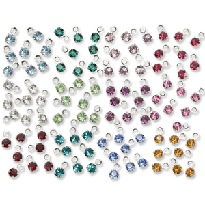 Charms & Solderable Accents Swarovski 3mm Round Crystal Charm Birthstone Pack