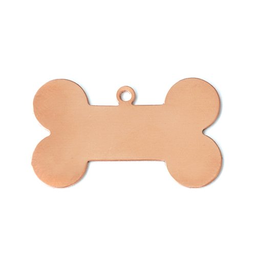 "Metal Stamping Blanks Copper Dog Bone with Top Loop, 31mm (1.25"") x 19mm (.75""), 24g, Pk of 5"