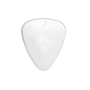 "Metal Stamping Blanks Aluminum Guitar Pick with Hole, 30mm (1.2"") x 25.2mm (1""), 14 Gauge, Pack of 5"