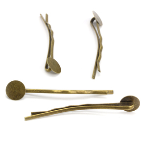 Rivets and Findings  Oxidized Brass Hair Pins, Pack of 4
