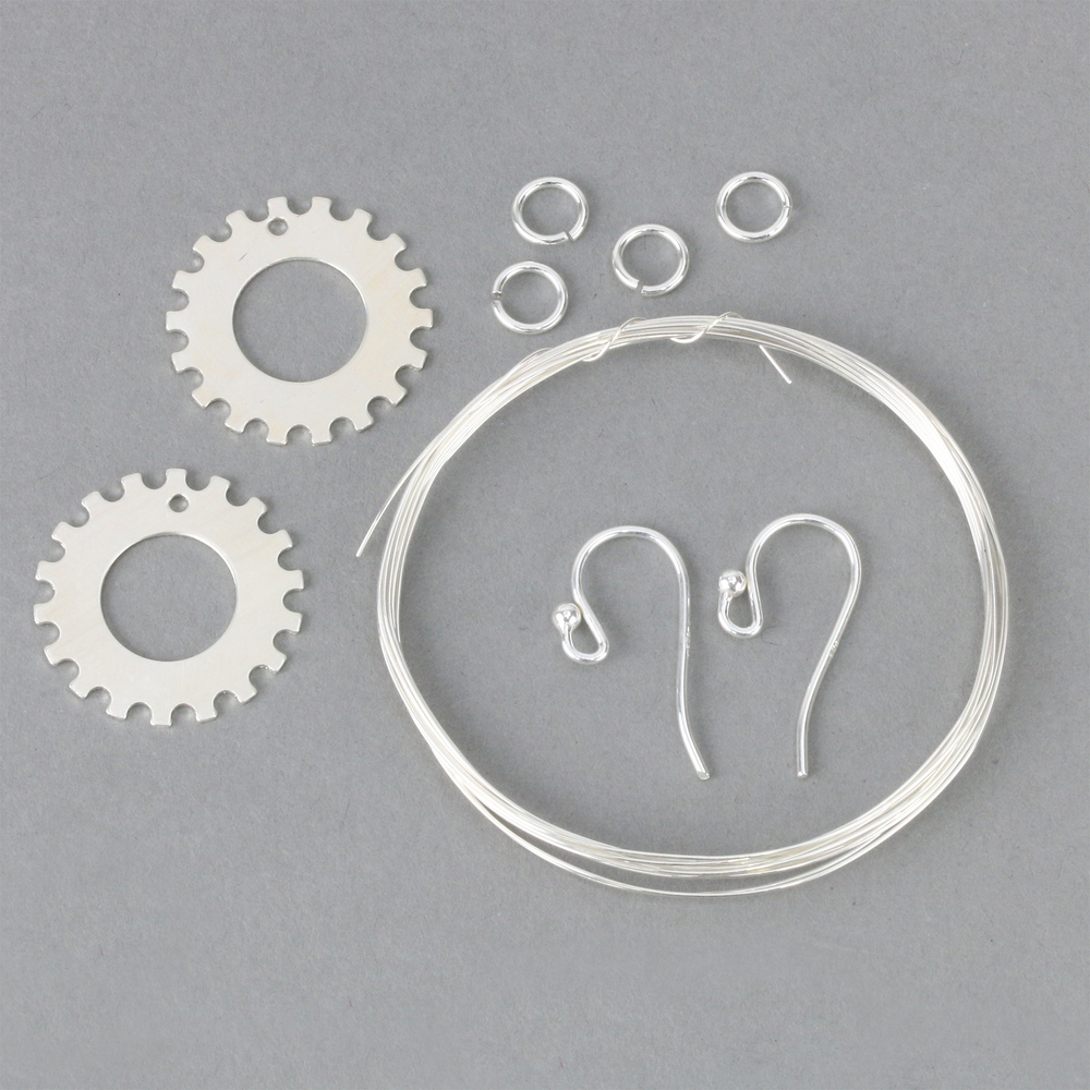 "Kits & Sample Packs Spiro Kit Earring Kit, 19mm (.75""), Sterling Metal Only no Stones"