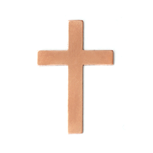 Metal Stamping Blanks Copper Cross, 24g
