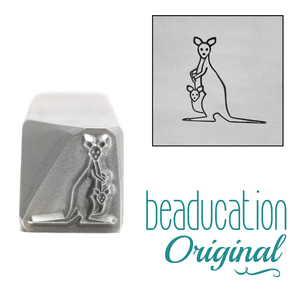 Metal Stamping Tools Kangaroo Metal Design Stamp, 10mm - Beaducation Original
