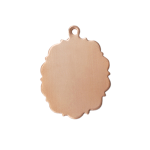 Metal Stamping Blanks Copper Fancy Oval, 24g