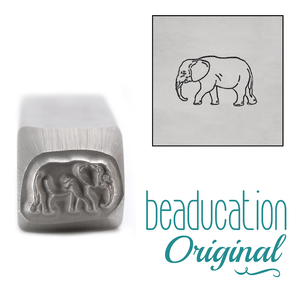 Metal Stamping Tools Mama (or Papa) Elephant Metal Design Stamp, 10mm - Beaducation Original