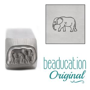 Metal Stamping Tools Mama (or Papa) Elephant Metal Design Stamp, 10mm - Beaducation Original