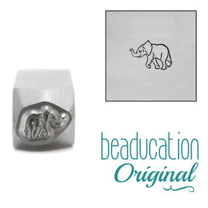 Metal Stamping Tools Baby Elephant Metal Design Stamp, 6.2mm - Beaducation Original