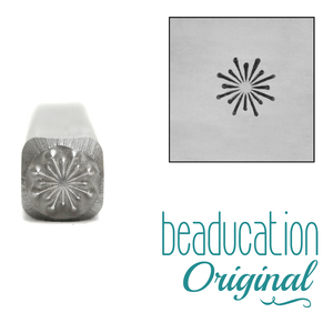 Metal Stamping Tools Simple Firework Burst Metal Design Stamp, 4mm - Beaducation Original