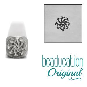 Metal Stamping Tools Pinwheel Flower Metal Design Stamp, 5.2mm - Beaducation Original