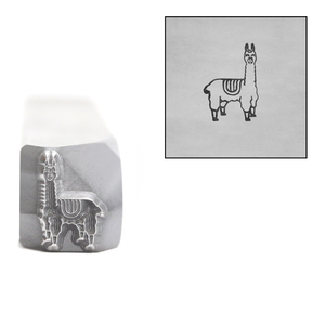 Metal Stamping Tools Llama Metal Design Stamp, 8.5mm, by Stamp Yours