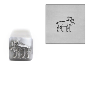 Metal Stamping Tools Moose Metal Design Stamp, 6mm, by Stamp Yours