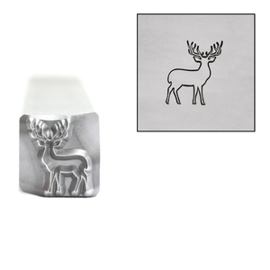 Metal Stamping Tools Reindeer Metal Design Stamp, 8mm, by Stamp Yours