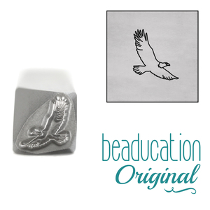 Metal Stamping Tools Eagle Metal Design Stamp, 7mm - Beaducation Original