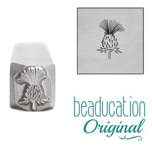 Metal Stamping Tools Thistle Flower Metal Design Stamp, 8.2mm - Beaducation Original