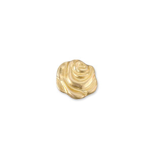 "Charms & Solderable Accents Gold Filled Rose Solderable Accent, 6.2mm (.24"") x 5.5mm (.22""), 26g - Pack of 5"