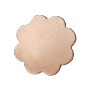 "Metal Stamping Blanks Copper Flower with 8 Petals, 19mm (.75""), 24g, Pk of 5"