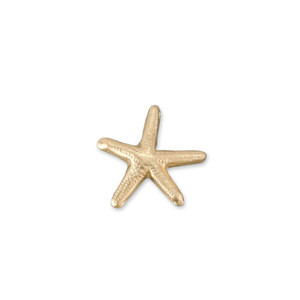 "Charms & Solderable Accents Gold Filled Starfish Solderable Accent, 7.8mm (.31"") x 7.5mm (.3""), 26g - Pack of 5"