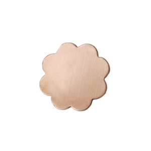 Metal Stamping Blanks Copper Small 8 Petal Flower, 24g