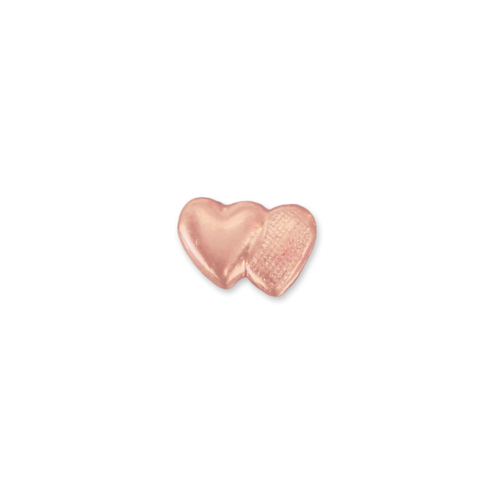 "Charms & Solderable Accents Copper Double Heart Solderable Accent, 6mm (.24"") x 4.3mm (.17""), 24g - Pack of 5"