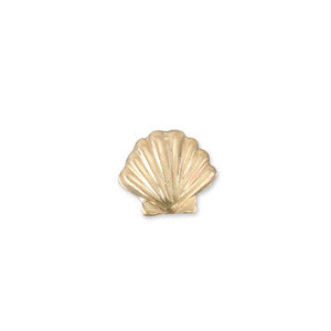 "Charms & Solderable Accents Gold Filled Seashell Solderable Accent, 6.5mm (.26"") x 5.8mm (.23""), 26g - Pack of 5"