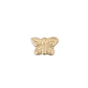 "Charms & Solderable Accents Gold Filled Butterfly Solderable Accent, 6.8mm (.27"") x 4.5mm (.18""), 26g - Pack of 5"