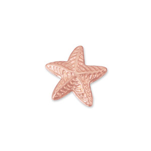 Charms & Solderable Accents Copper Puffy Starfish Solderable Accent, 24 Gauge - Pack of 5