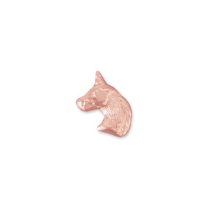 Charms & Solderable Accents Copper Unicorn Head Solderable Accent, 24 Gauge - Pack of 5